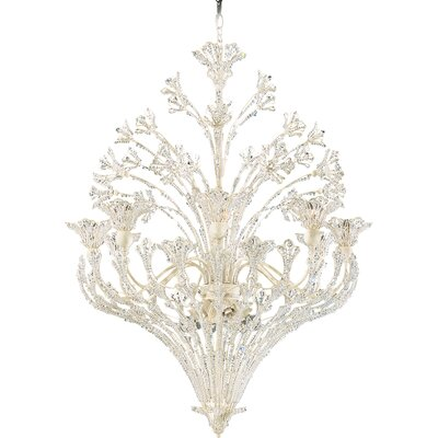 Rivendell 15-Light Geometric Pendant Finish: Antique Silver, Crystal Color: Swarovski Spectra