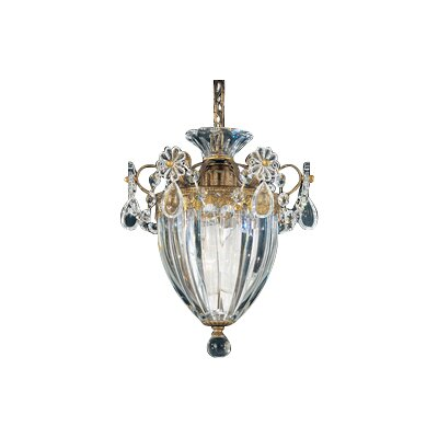 Bagatelle 1-Light Mini Pendant Finish: Etruscan Gold, Crystal Color: Heritage Handcut Crystal Clear, Size: 9.5 H