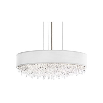 Eclyptix 6-Light Drum Pendant Crystal Type: Heritage Clear