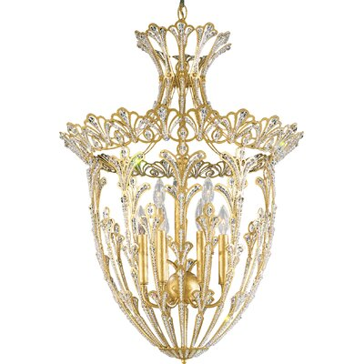 Rivendell 9-Light Foyer Pendant Finish / Crystal Color: Heirloom Gold / Strass Clear