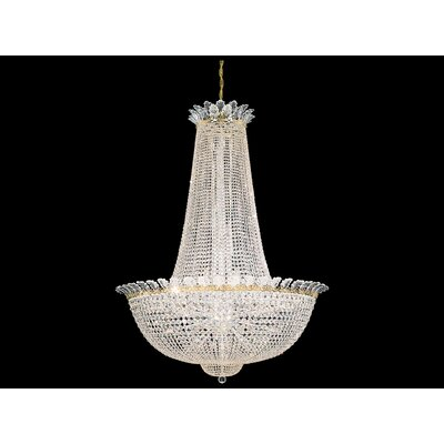 Roman Empire 58-Light Foyer Pendant Crystal Type: Swarovski Elements Clear, Finish: Antique Silver