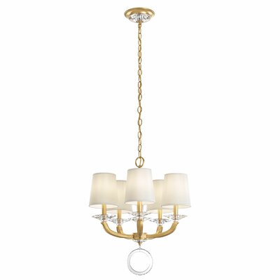 Emilea 5-Light Shaded Chandelier Base Finish: Heirloom Gold