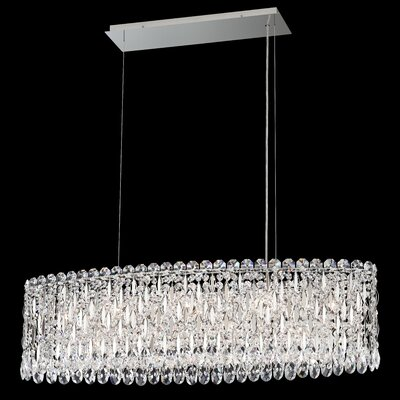 Sarella 12-Light Crystal Pendant Crystal Grade: Spectra, Finish: Antique Silver