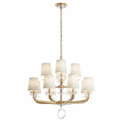 Emilea 12-Light Shaded Chandelier Base Finish: Heirloom Gold