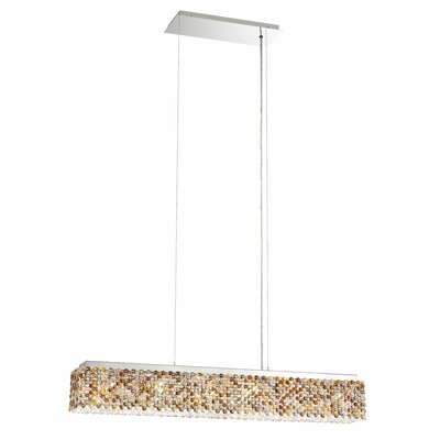 Refrax 6-Light Crystal Pendant Crystal: Travertine from Swarovski