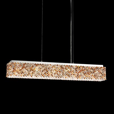 Refrax 6-Light LED Crystal Pendant Crystal: Golden Teak from Swarovski