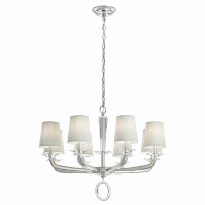 Emilea 8-Light Candle-Style Chandelier Finish: White