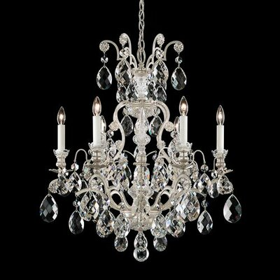 Renaissance 6-Light Crystal Chandelier Crystal Grade: Golden Teak from Swarovski, Finish: Black