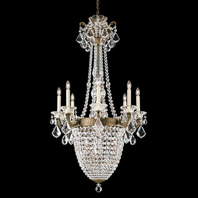 La Scala 11-Light Crystal Chandelier Crystal Grade: Swarovski, Base Finish: Roman Silver