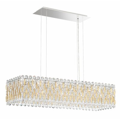 Sarella 13-Light Crystal Pendant Finish: Stainless Steel, Crystal Grade: Swarovski