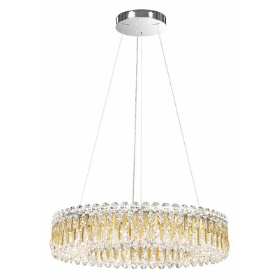 Sarella 12-Light Crystal Pendant Crystal Grade: Swarovski, Finish: Heirloom Gold