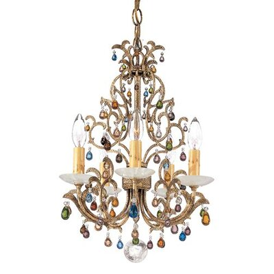 Genesis 5-Light Candle-Style Chandelier
