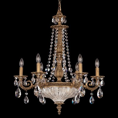 Milano 9-Light Candle-Style Chandelier Finish: Florentine Bronze with Clear Spectra Crystal
