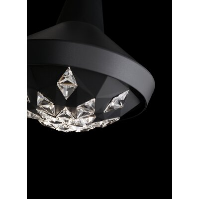 Estrella 1-Light Mini Pendant Finish: Black