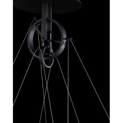Solarius Geometric Pendant Finish: Black, Size: 1 H x 39 W x 39 D