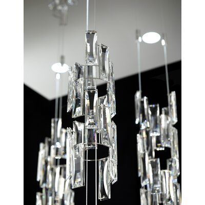 Turns 4-Light Crystal Pendant Finish: Stainless Steel