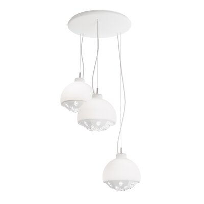 Estrella 3-Light Cluster Pendant Finish: White