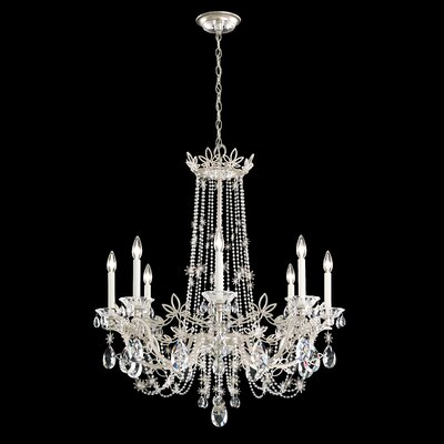Florabella 8-Light Candle-Style Chandelier Finish: Antique Silver, Crystal Grade: Swarovski�