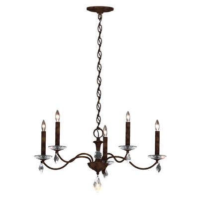 Modique 5-Light Candle-Style Chandelier Crystal Grade: Heritage, Finish: Heirloom Bronze