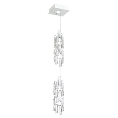 Turns 1-Light Crystal Pendant Finish: White
