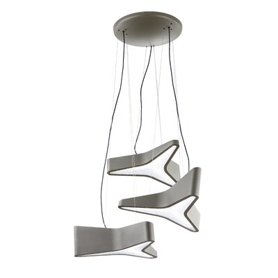 Trimini Cluster Pendant Finish: Glimmer Gray