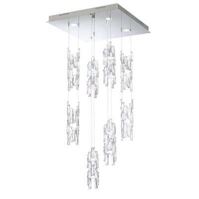 Turns 4-Light Crystal Pendant Finish: White