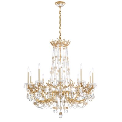 Florabella 10-Light Candle-Style Chandelier Finish: French Gold, Crystal Grade: Swarovski�