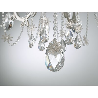 Florabella 10-Light Candle-Style Chandelier Finish: Antique Silver, Crystal Grade: Heritage