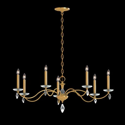Modique 7-Light Candle-Style Chandelier Crystal Grade: Swarovski�, Finish: Heirloom Gold