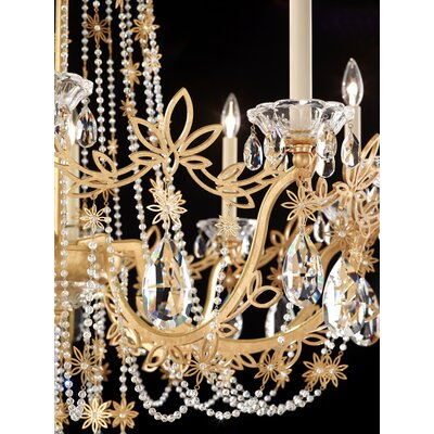 Florabella 8-Light Candle-Style Chandelier Crystal Grade: Swarovski�, Finish: French Gold