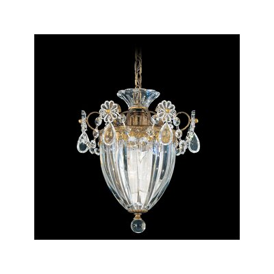 Bagatelle 1 Light Pendant Size: 9.5 H Finish: Etruscan Gold with Handcut Crystals Image