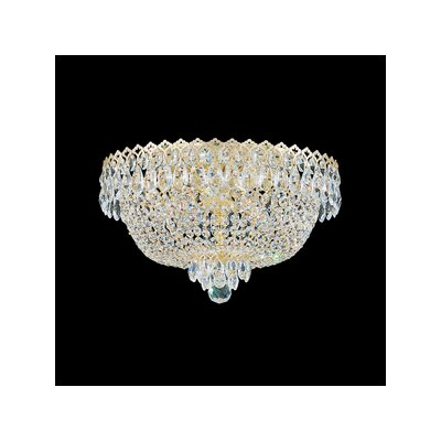 Camelot 4-Light Flush Mount Finish: Polished Silver