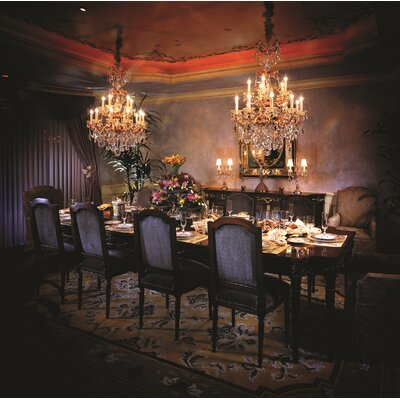 La Scala 15-Light Crystal Chandelier Finish / Crystal Color: Parchment Gold / Handcut Clear