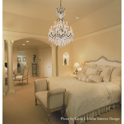 La Scala 15-Light Crystal Chandelier Finish / Crystal Color: Heirloom Bronze / Strass Clear