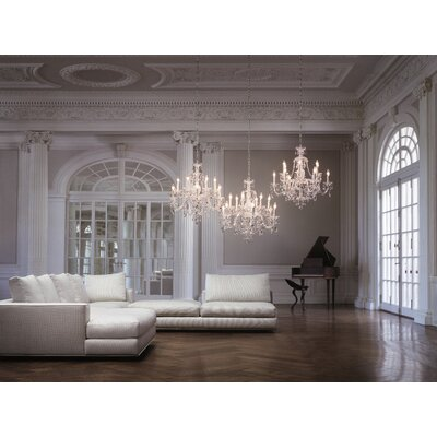 Sterling 12-Light Crystal Chandelier Finish / Crystal Color: Polished Silver / Strass Clear