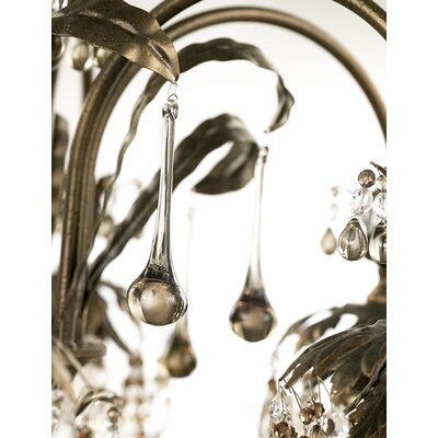 Rondelle 7-Light Crystal Chandelier Finish / Crystal Color: Etruscan Gold / Black Diamond