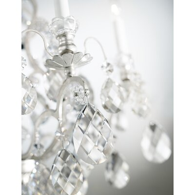 Renaissance 6-Light Crystal Chandelier Finish / Crystal Color: Antique Silver / Handcut Clear