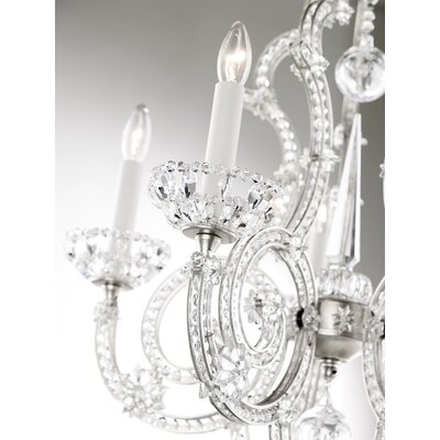 Scheherazade 5-Light Crystal Chandelier Color: Silver Leaf