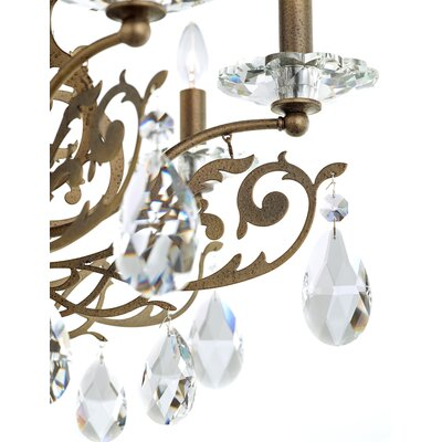 Filigrae 8-Light Semi Flush Mount Finish: Etruscan Gold, Crystal: Heritage Clear Crystal