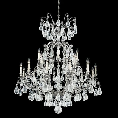 Versailles Rock Crystal 24-Light Crystal Chandelier Finish: Heirloom Gold