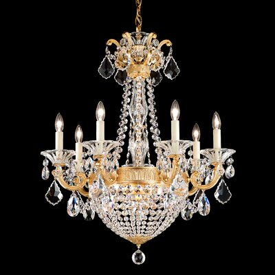 La Scala Empire 9-Light Crystal Chandelier Finish / Crystal Color: Parchment Gold / Strass Clear