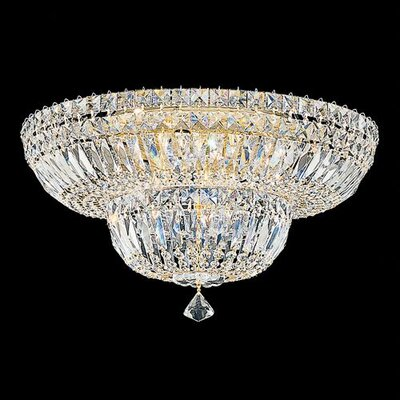 Petit Crystal Deluxe Flush Mount Size / Finish / Crystal Grade: 10 H x 18 W x 18 D / Silver / Spectra Swarovski