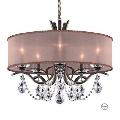 Vesca 9-Light Crystal Chandelier Finish: Ferro Black, Crystal Grade: Swarovski Elements