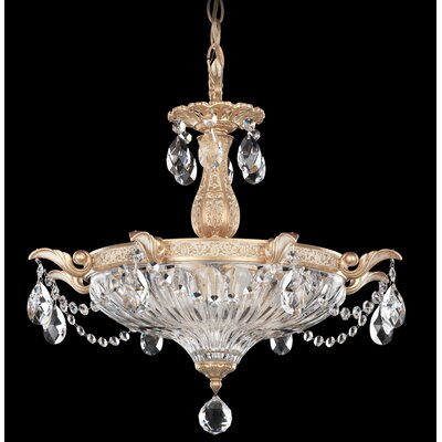 Milano 3-Light Bowl Pendant Finish: Heirloom Gold, Crystal Type: Optic Clear