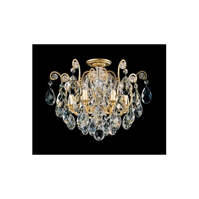 Renaissance 6-Light Semi Flush Mount Finish / Crystal Grade: Heirloom Gold / Strass Clear