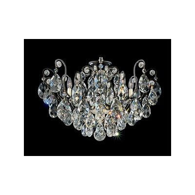 Renaissance 8-Light Flush Mount Finish / Crystal Grade: Antique Silver / Handcut Clear