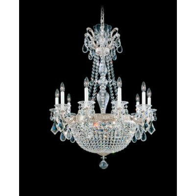 La Scala Empire 15-Light Crystal Chandelier Finish / Crystal Color: Antique Silver / Swarovski Spectra