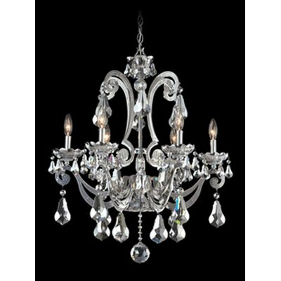 Cadence 6-Light Candle-Style Chandelier Color: Silver, Crystal Color: Strass Golden Shadow