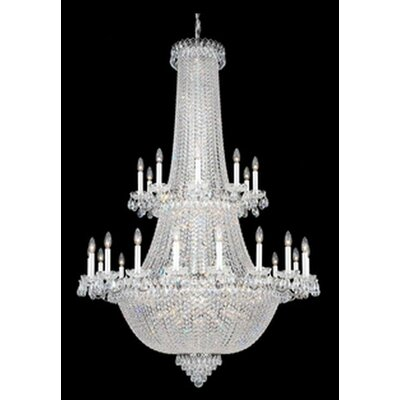 Camelot 84-Light Candle-Style Chandelier Finish: Polished silver