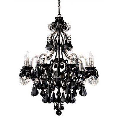 Cappela 9 Light Chandelier Color: Jet Black Crystal Color: Black